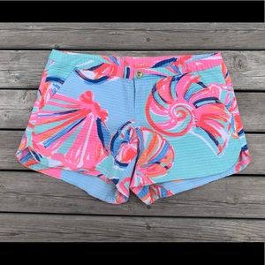 Lilly Pulitzer Womens Size 0 Shorts Blue Shells
